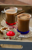 Cacao drink in the mug Royalty Free Stock Image