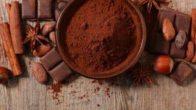 Cacao e fagiolo fotografie stock libere da diritti