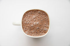 Cacao in een witte kop stock afbeeldingen
