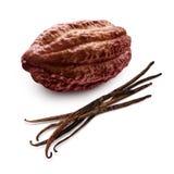 Cacao en vanille Stock Afbeelding