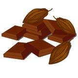 Cacao et chocolat illustration de vecteur