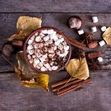 Cacao met heemst Stock Fotografie