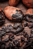 Cacao nibs Stock Image