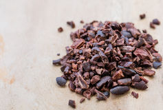 Cacao nibs Stock Photo