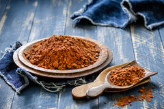 Cacao in polvere Fotografia Stock Libera da Diritti