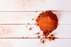 Cacao in polvere Fotografia Stock