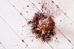 Cacao in polvere e cioccolato Immagini Stock Libere da Diritti