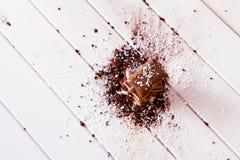 Cacao in polvere e cioccolato Fotografia Stock Libera da Diritti