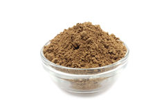 Cacao in polvere un contenitore di vetro immagine stock libera da diritti