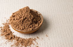 Cacao powder in a bowl stock photo