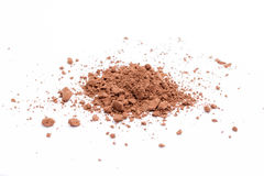Cacao powder. On white background stock photography