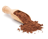 Cacao powder  on white Stock Photos