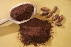 Cacao przeciwu cucchiaio Obraz Royalty Free