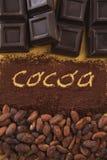 Cacao przeciwu scritta 2 Fotografia Royalty Free