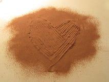 Cacao S. Valentine hart Stock Afbeeldingen
