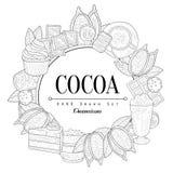 Cacao Uitstekende Schets Royalty-vrije Stock Afbeelding