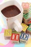 Cacao voor jong geitje Royalty-vrije Stock Fotografie