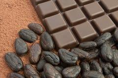 Cacao y chocolate Foto de archivo libre de regalías