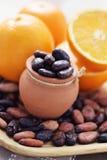 Cacao y naranja Fotografía de archivo libre de regalías