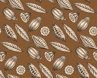 Cacaopatroon Stock Afbeeldingen