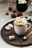 Cacau com leite condensado e pedaços de chocolate fotografia de stock