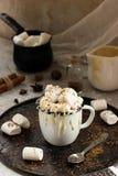 Cacau com leite condensado e pedaços de chocolate foto de stock royalty free