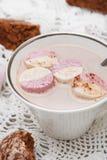 Cacau quente com marshmallows Foto de Stock Royalty Free