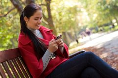 Free CaCaucasian Woman With A Cell Phone. Stock Image - 17237751