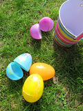 Caccia dell'uovo di Pasqua Fotografia Stock