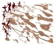 Caccia della gente primitiva Immagini Stock