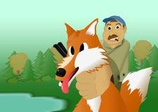 Caccia di Fox Fotografia Stock Libera da Diritti