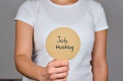 Caccia di lavoro e cambiamento di carriera fotografia stock