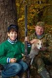 caccia di prima generazione del nipote Fotografia Stock Libera da Diritti
