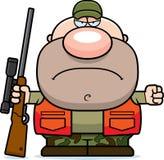 Cacciatore arrabbiato del fumetto Fotografia Stock Libera da Diritti