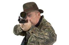 Cacciatore che cattura scopo Fotografia Stock Libera da Diritti