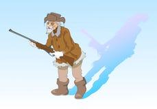 Cacciatore anziano illustrazione di stock
