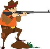 Cacciatore con un fucile Fotografia Stock