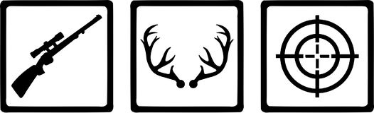 Cacciatore delle icone di caccia illustrazione vettoriale