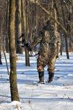 Cacciatore di inverno fotografia stock