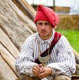 Cacciatore di pelli del francese dei giovani 1700 Immagine Stock Libera da Diritti