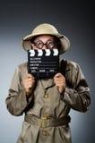 Cacciatore divertente di safari Fotografie Stock Libere da Diritti