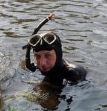 Cacciatore subacqueo Fotografia Stock Libera da Diritti