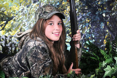 Cacciatore teenager a terra Fotografia Stock
