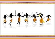 Cacciatori africani illustrazione vettoriale