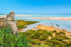 Cacela Velha, old fishermen village near Vila Real de Santo Antonio, Algarve, Portugal. Royalty Free Stock Photo