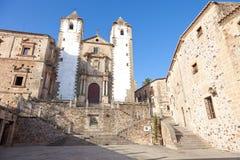 caceres教会弗朗西斯科・ javier ・圣・西班牙 图库摄影