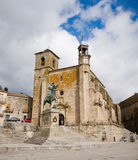 caceres西班牙方形trujillo市长 免版税库存照片