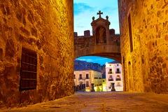 Caceres Arco de la Estrella arch in Spain Royalty Free Stock Photos