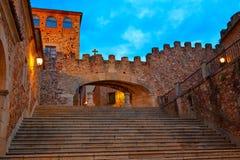 Caceres Arco de la Estrella arch in Spain Stock Photo