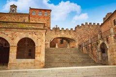 Caceres Arco de laEstrella båge i Spanien Arkivfoton